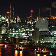 俯瞰工厂夜景